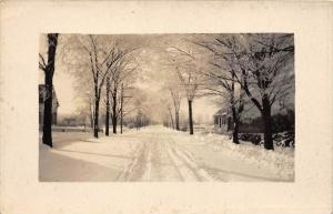 12985   Snow covered street  real photo