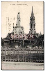 Old Postcard Nimes Fontaine Pradier