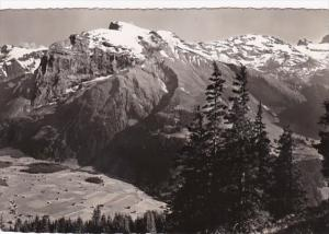 Switzerland Panorama von Ristis-Station Der Titlis 1954 Photo