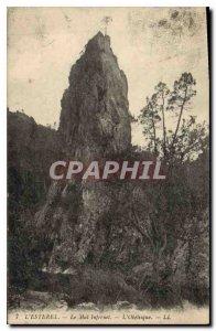 Old Postcard L'Esterel Evil Infernet the Obelisk