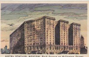 BOSTON, Massachusetts, 1957; Hotel Statler, Park Square at Arlington Street