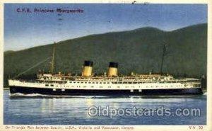 C.P.R. Princess Marguerite Steamship 1953 postal used 1953