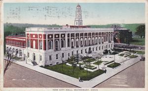 New City Hall, WATERBURY, Connecticut, PU-1916