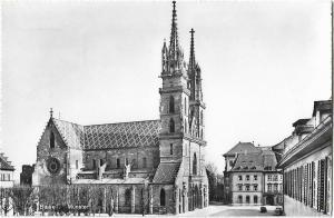 Germany Basel münster Real Photo 01.18