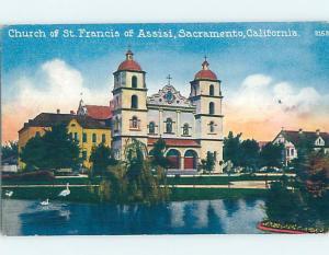 Divided-Back CHURCH SCENE Sacramento California CA A9926