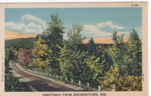 Indiana Greetings From Brownstown Curteich