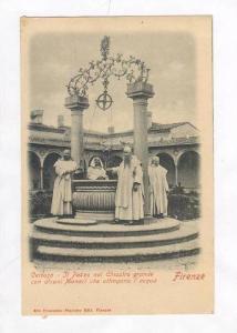 Pozzo Nel Chiostro Grande Con Alcuni Che Attingono l'Acqua, Certosa, Firenze,...