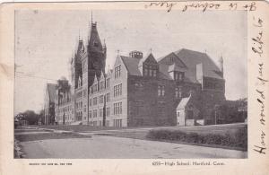 HARTFORD, Connecticut, PU-1907; High School