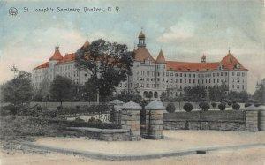 St. Joseph's Seminary, Yonkers, New York, Hand Colored Postcard, Unused