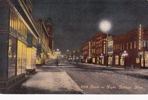 BILLINGS, Montana, 1900-10s ; 28th Street at night