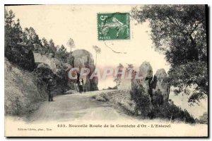 Old Postcard New Road the Corniche d'Or L'Esterel