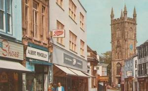 Fore Street St Saint Austell Cornwall Boots The Chemists Shoe Shop Bank Postcard