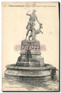 Old Postcard Villers Cotterets Statue Diane Huntress
