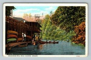 Eugene OR-Oregon, Anchorage Mill Race, Vintage Postcard