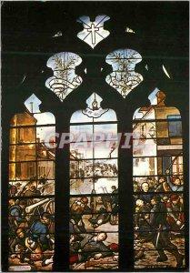 Postcard Modern Ladon (Loiret) Stained glass window in the Church (Battle 1870)
