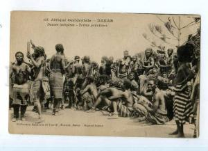 247407 Senegal DAKAR black semi-nudes dances Vintage postcard