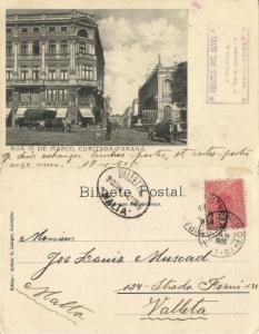 brazil, CURITIBA CURITYBA, Paraná, Rua 1º de Março (1905) Postcard