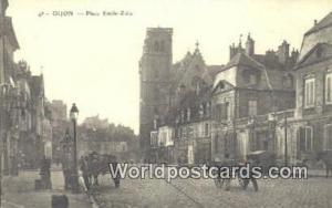 Dijon, France, Carte, Postcard Place Emile Zola Dijon Place Emile Zola