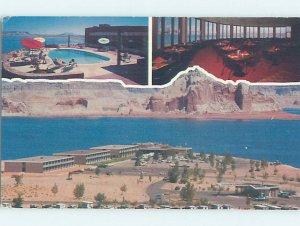 Pre-1980 LODGE MOTEL SCENE Lake Powell - Near Page Arizona AZ AE0600