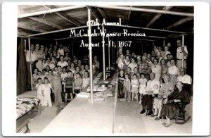 1957 Missouri RPPC Real Photo Postcard 67th Annual McCullah-Wesson Reunion