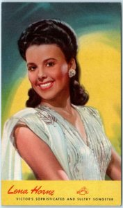 RCA VICTOR Advertising Postcard LENA HORNE Sultry Black Americana ca 1940s