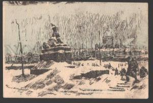 108921 WWII Siege Blockade LENINGRAD Neva by PAVLOV vintage PC