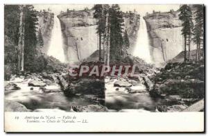 Stereoscopic map - USA - North America - Vallee Yosemite - Old Postcard