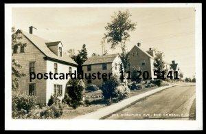 5141 - BAIE COMEAU Quebec 1950s Champlain Avenue. Real Photo Postcard