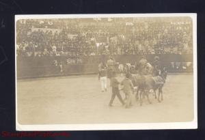 RPPC MATAMOROS MEXICO BULLFIGHT ARENA STADIUM 1913 REAL PHOTO POSTCARD 06
