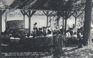 Chapel Service On Shore Of Bushy Hill Lake Incarnation Church Camp Ivoryton C...