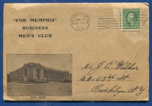 For Memphis Business Men's Club 1914 Tennessee tn postcard folder