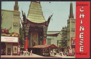 Grauman's Chinese Theatre,Hollywood,CA Postcard BIN