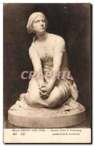 Old Postcard Henri Chapu 1833 1891 Joan of Arc Domremy Musee Conde Chantilly