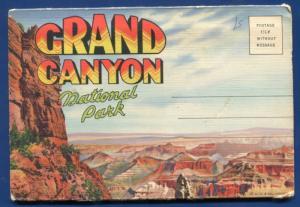 Grand Canyon National Park Arizona az Rim EL Tovar Hotel Postcard Folder