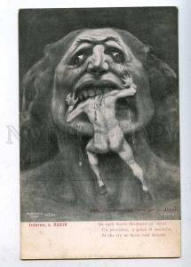 202458 DANTE Huge Head NUDE Man by KIENERK Vintage ART NOUVEAU