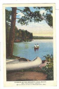 Canoeing in the Minnesota Lakes Region, Minnesota, 1930-1940s