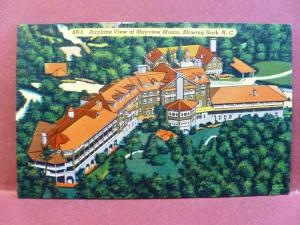 Postcard NC Blowing Rock Airplane View of Mayview Manor #1