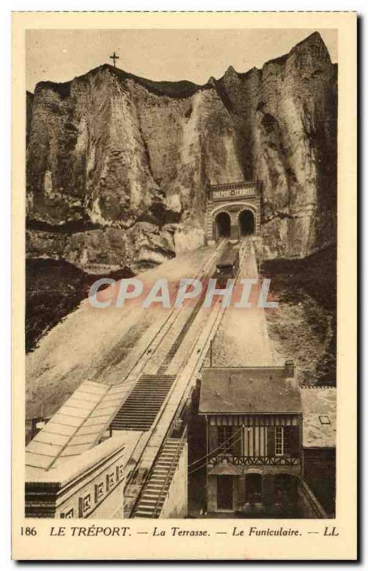 Treport - The Terrace - The funicular - Old Postcard