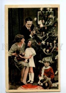 233380 NEW YEAR Family Kids TEDDY BEAR Doll Vintage POLAND PC