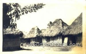 Panama Panama Reed Huts Real Photo