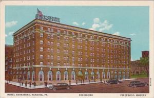Pennsylvania Reading Hotel Berkshire 1955 Curteich
