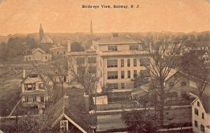 RAHWAY NEW JERSEY~BIRDS EYE VIEW~A CALFAS PUBLISHED POSTCARD