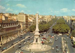 Portugal Lisboa Praca dos Restauradores e Avenida da Liberdade Cars Voitures