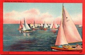 New York Long Island Sailing On Long Island