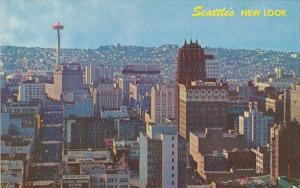 Washington Seattle Business District With Space Needle