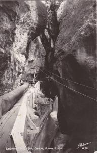 RP OURAY, Colorado, 30-40s, Looking Into Box Canon, Sanborn Photo