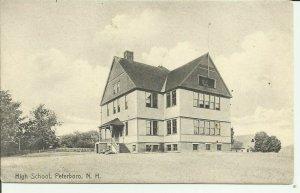 Peterboro, N.H., High School --- Rotograph