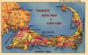 MA - Map of Cape Cod