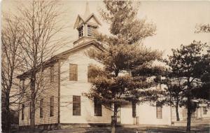 E83/ Damascus Mahoning Ohio RPPC Postcard School House c1910 Building 9