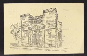 NEWFOUNDLAND - Old Museum Building Drawing - Thin Paper - Unused